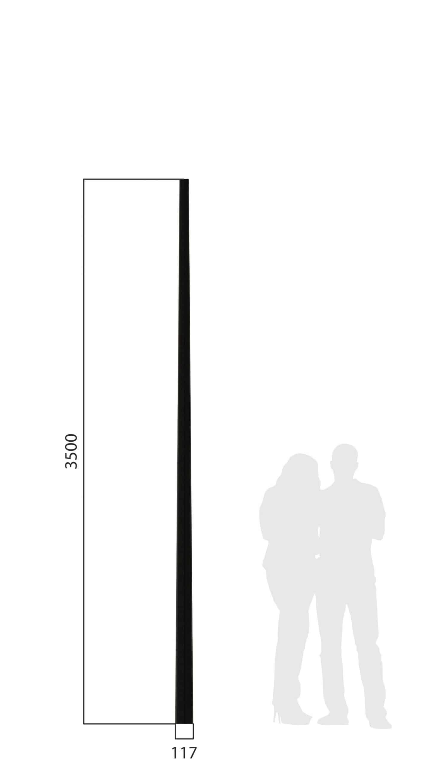 Mast Conisch
